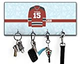 RNK Shops Hockey Key Hanger w/ 4 Hooks (Personalized)
