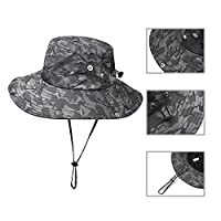 f6fa719e1df815 Jogoo Outdoor Boonie Sun Hat,Summer UPF 50 Protection Fishing Hat for Men&  Women,Quick Drying and Breathable,Wide Brim Hat for Camping,Hiking and  Boating.