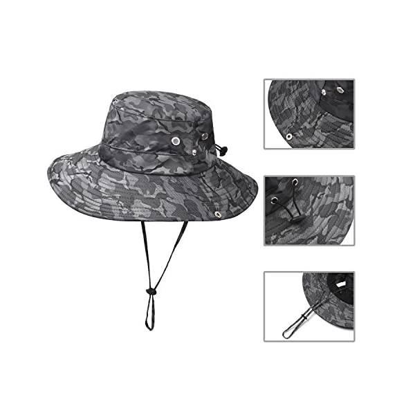 b20449c5 Jogoo Outdoor Boonie Sun Hat,Summer UPF 50 Protection Fishing Hat for Men&  Women,Quick Drying and Breathable,Wide Brim Hat for Camping,Hiking and  Boating.