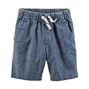 Carter's Little Boys' Pull-On French Terry Shorts (12 Months, Chambray)