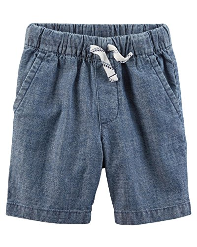 Carter's Little Boys' Pull-On French Terry Shorts (3T, Chambray) ()