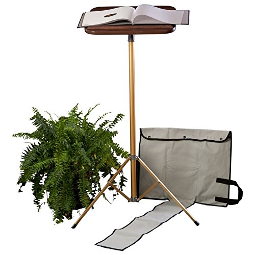 XL Industries Fixed Pedestal Portable Lectern with Carrying Case Built for the Professional by XL IndustriesTM