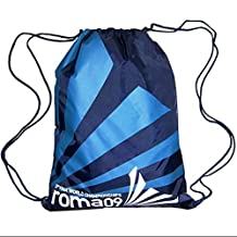 Unisex Kids Sport Basketball Football Soccer Tennis Duffle Drawstring Backpack Bag Cinch Blue Stripes