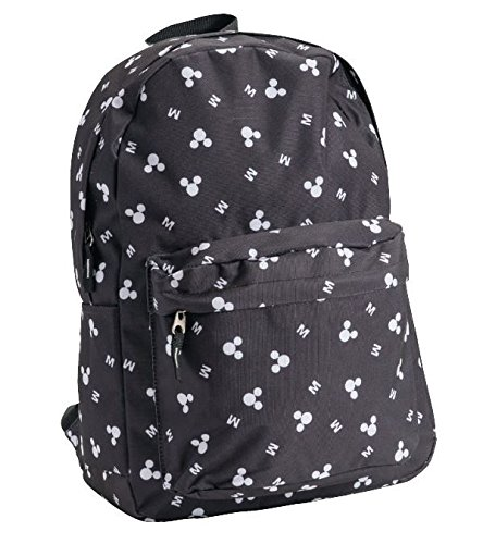 Disney Adult Zippered Backpack Classic Mickey Mouse Bag YNC