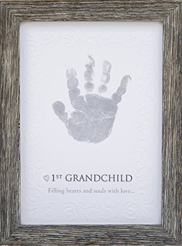 The Grandparent Gift First Grandchild Handprint Keepsake in Farm ...