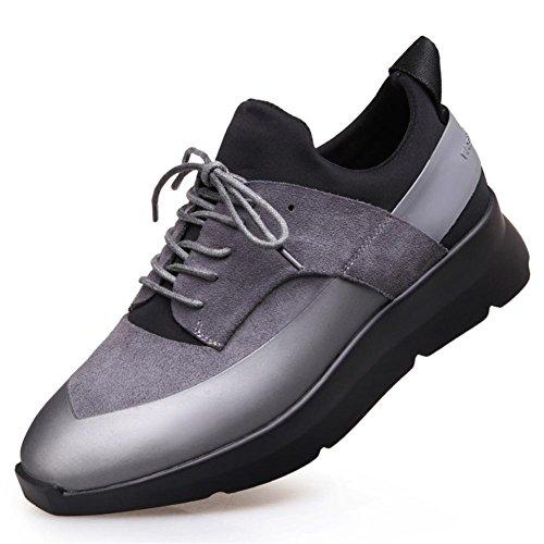 Hombres Choque Absorbente Aire Corriendo Entrenadores Trotar Gimnasio Aptitud Entrenador Casual Deportes Zapatos Negro Gray