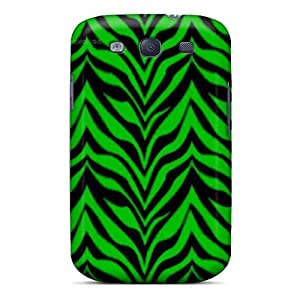 Case Cover Protector For Galaxy S3 Green Zebra Case