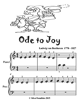 Ode To Joy Beginner Piano Sheet Music Tadpole Edition Kindle
