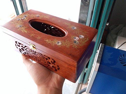 Amazon.com: Restbuy Wood Tissue Box Cover Holder Dispenser Kleenex Tissue for Office Bathroom Kitchen Table: Home & Kitchen