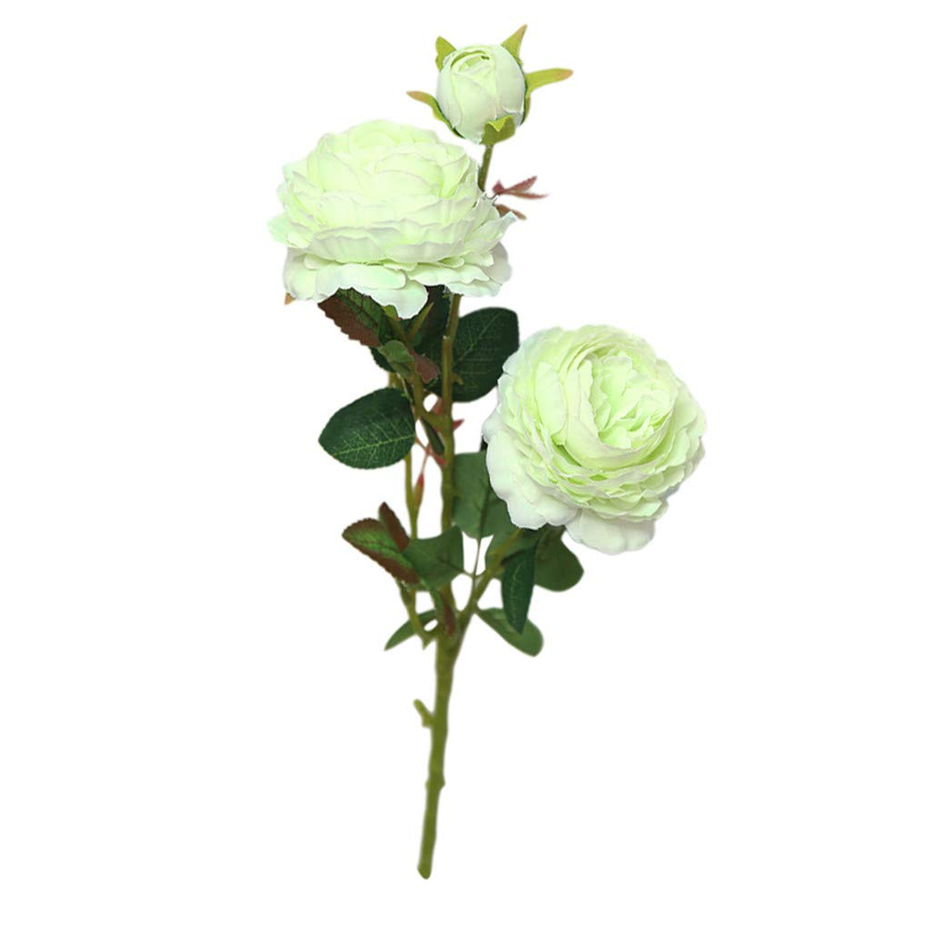 Coedfe Artificial Flower for Mother's Day Rose Fake Flower for Gifts Friends Real Touch Flower, Plastic Plants (Green)