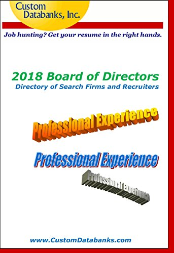 2018 board of directors directory of search firms and recruiters job hunting get your