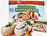 Temblor Industries Dino Egg Dig Kit - Dig and Discover Dinosaur Eggs Great for Dino Dig Parties and More! Kids Dig It!