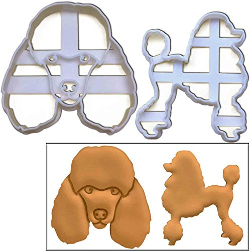 Set of 2 Poodle cookie cutters (Poodle