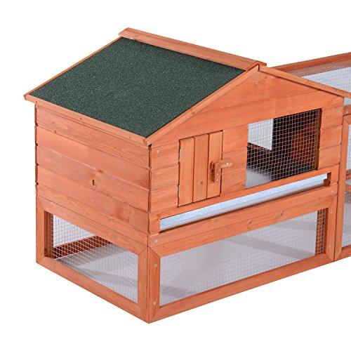 Pawhut 64 outdoor guinea pig pet house rabbit hutch for Outdoor guinea pig hutch