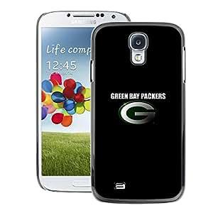 Samsung Galaxy S4 Impreso colorido protector duro espalda Funda piel de Shell (Green Packers)
