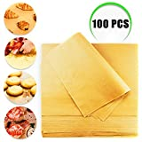 Weoxpr 100 PCS Precut Parchment Paper Cookie Baking Sheets - 12 x 16 Inches - Perfect for High Temperature Baking(Brown)