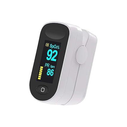 Oxímetro de Pulso, Elevenses Pulsioxímetro con Pantalla OLED, Oxímetro con función de alarma, Aaprobado por la ...