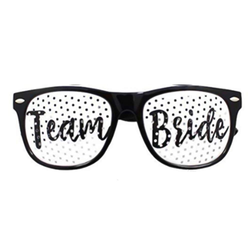 Loweryeah Bachelorette Decoration Sunglasses Bride Team Glasses Hen Night Stag Photobooth Props Bride to Be Funny Party Favors 1 pcs