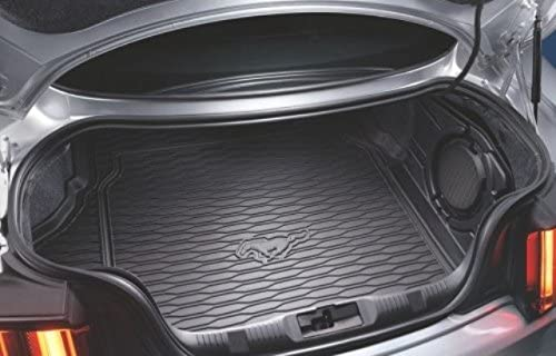 Ford OEM Factory Stock 2015 2016 Mustang with Subwoofer Black Weather Rear Back Cargo Trunk Liner Mat