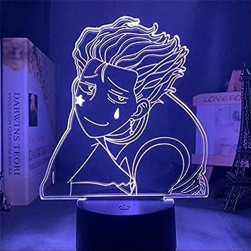 Acrylic Led Night Light Hunter X Hunter Hisoka  Anime Lamp Bedroom Decor Gift