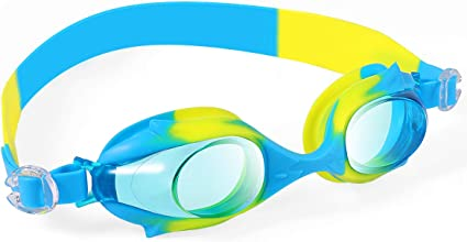 Kids Swim Goggles Clear Vision with Case for Boys Girls Youth Kids Age 4-12