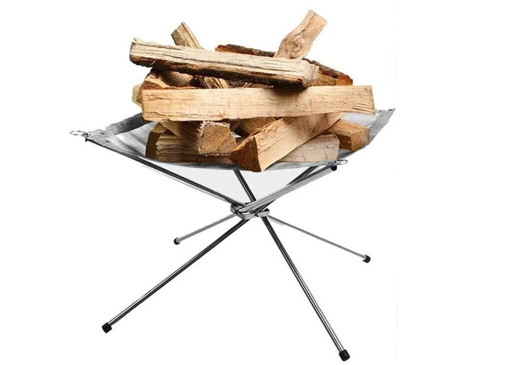 MINI-FACTORY Camp Fire Mesh Pit, Lightweight Portable Stainless Fire Stand Outdoor Garden Backyard Fireplace