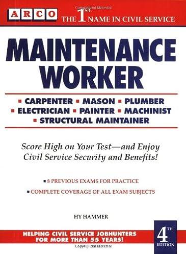 maintenance workers exam 4th ed maintenance worker mechanical rh amazon com
