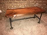 Cheap Industrial Pipe and Wood Coffee Table Live Edge Rustic Vintage (Honey Pine)
