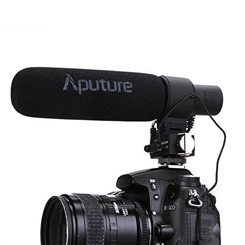 Aputure V-Mic D2 - Sensitivity Adjustable Directional Condenser Shotgun Microphone - Hot Shoe Boom Mic
