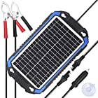 SUNER POWER 12V Solar Car Battery Charger & Maintainer - Portable 8W Solar