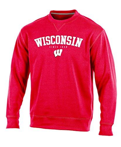 NCAA Wisconsin Badgers Adult Men Crew Neck Fleece, Medium, ()