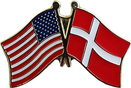 AES Wholesale Pack of 12 USA American & Denmark Country Flag Bike Hat Cap lapel Pin