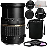 Tamron Zoom Super Wide Angle SP AF 17-50mm f/2.8 XR Di II LD Aspherical [IF] Autofocus Lens for Nikon Digital Cameras with Manufacturer Accessories + 3 Piece Filter Kit (UV+CPL+FLD) + Lens Pouch + Microfiber Cleaning Cloth