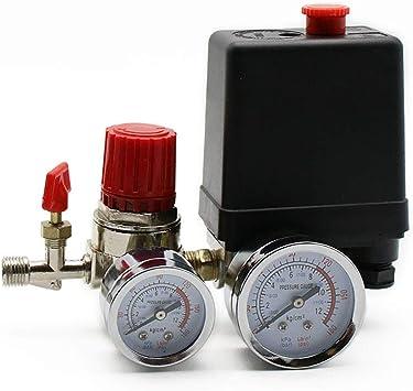 Luftkompressor Druckschalter Steuerventil Regler Kompressorschalter Mit Messgerätenmit 4 Phasen 0 05 0 8 Mpa Baumarkt