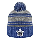 NHL Toronto Maple Leafs Men's Merlin Cuffed Knit Hat with Pom, One Size, Navy/Charcoal