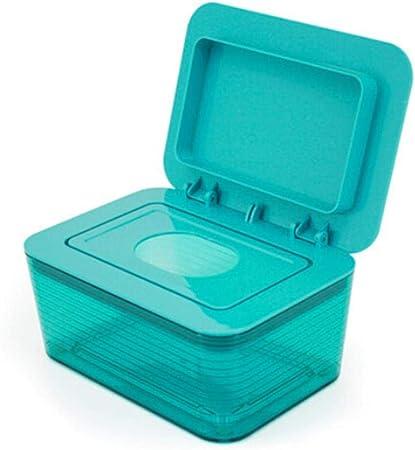 Caja higiénica de pañuelos húmedos, Papel Sellado para bebés, desmaquillante Lady , Caja de servilletas húmedas para el hogar, Porta/dispensador/contenedor de toallitas húmedas, Verde: Amazon.es: Hogar