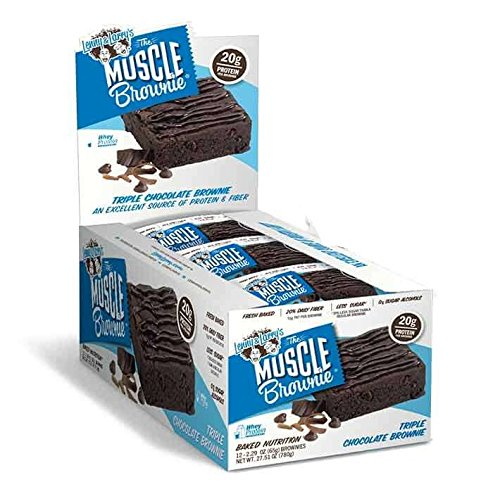 LENNY & LARRY'S Triple Chocolate Muscle Brownie, 2.82-Ounce Packages (Pack of - Triple Brownies Chocolate