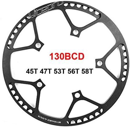 130BCD Aluminum Alloy Round Chainring Folding Bike Chain Ring Chainwheel 53-58T
