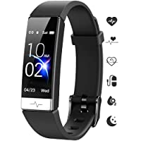 Fitness Tracker, Heart Rate Monitor IP68 Waterproof Activity Tracker HRV Health Watch SPO2 Blood Oxygen Blood Pressure with Sleep Monitor and 11 Sport Modes for Women and Men