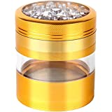 Zip Grinders - Large Spice & Herb Grinder - Four Piece with Pollen Catcher - 3.25 Inches Tall - Premium Grade Aluminum (2.5