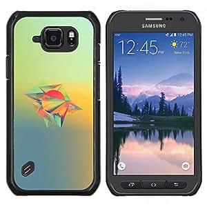 Qstar Arte & diseño plástico duro Fundas Cover Cubre Hard Case Cover para Samsung Galaxy S6Active Active G890A (Diseño abstracto)