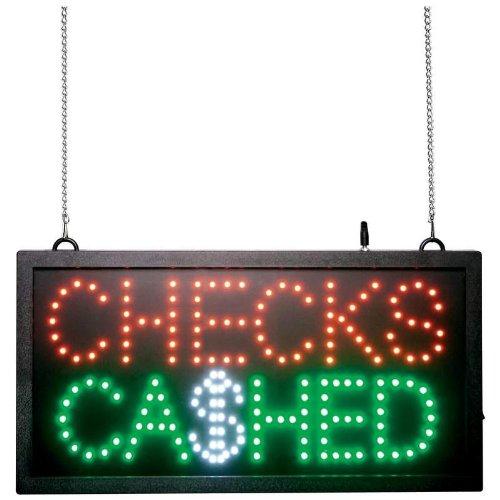 Led Checks Sign Cashed (Mitaki-Japan CHECKS CASHED Programmed LED Sign)