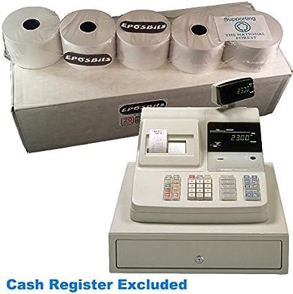 EPOSBITS® - Rollos para caja registradora Casio CE-2300 CE2300 (20 ...