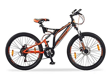 52ad49b8d20b2 KROSS K-40 Nu 24T Orange-Black 21 Speed Bicycle with Double Disc Brakes  (Age 13 Years   Above)  Amazon.in  Sports