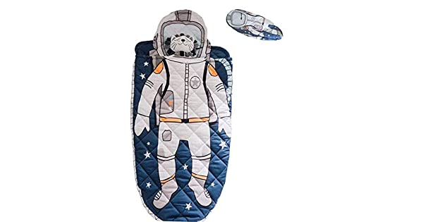 Blue Purple Mummy Style Toddler Sleeping Bag Extreme Temp Rating 30F Travel Slumber Party AceCamp Kids Sleeping Bags for Boys Girls Camping Glow-in-The-Dark Sleeping Bag