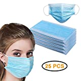 TVMALL 4-Layer Disposable Medical Masks Dustproof/Surgical Masks Universal Breathable Folding Masks Latex-Free with Elastic Strap Safer protection Prevention air Pollution Dust filter (25 PCS)