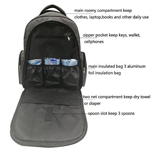 Sanreal mochila para pañales con bebé cochecito correas, cambio Pads resistente al agua Oxford tela: Amazon.es: Bebé