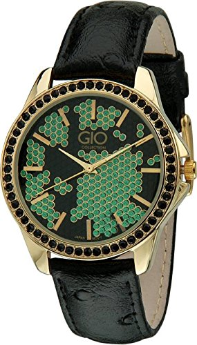 Gio Collection Analog Green/Black Dial Women #39;s Watch
