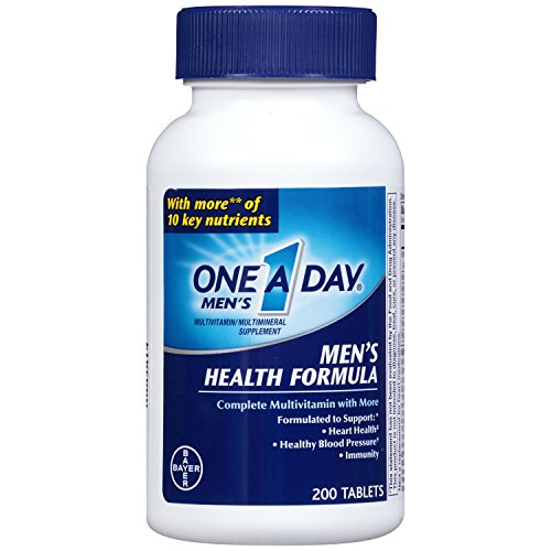 One A Day Multivitamin, Men's Health Formula , 200 Tablet Bottle - Pack of 5 by One-A-Day A
