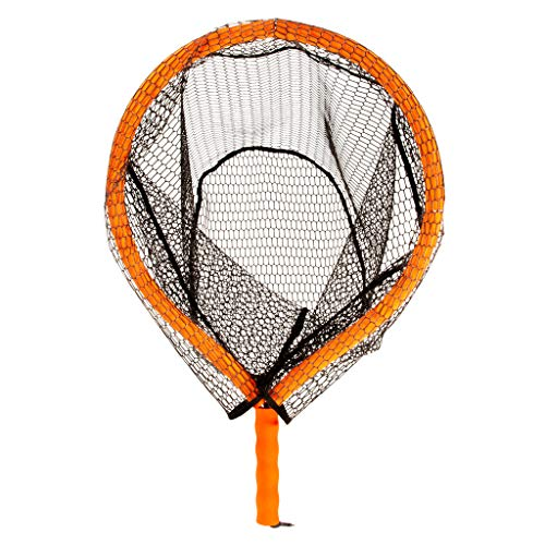 Fishing Net ❤️Jonerytime❤️Fishing Net Fish Landing Net Durable Rubber Material Mesh Safe Fish Catching Black